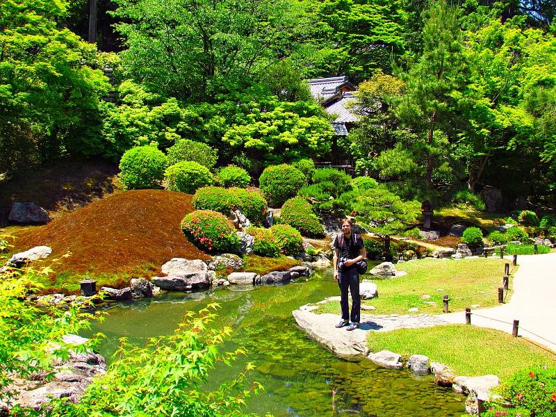 Een Japanse tuin in Kyoto