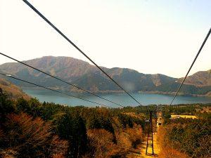 Mount Fuji met de kabelbaan