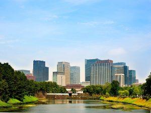 Tokyo uitzicht moderne stad