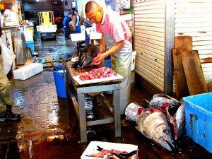 Vismarkt Tokyo vakantie