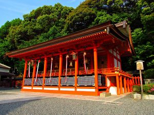Kleurige tempel in Kyoto, Japan