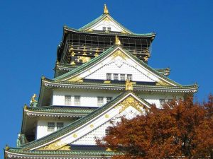 Prachtig gebouw in Osaka, een van de steden in Japan