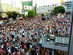 Tokyo bezienswaardigheid: Shibuya kruispunt Japan