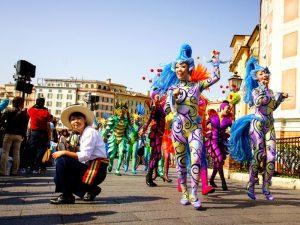 Kleurrijk festival in Japan