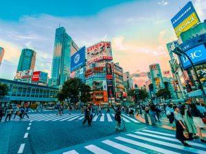 De bekende Shibuya Crossing, Tokyo