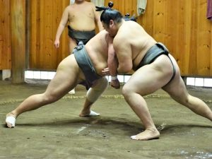 Sumoworstelaars in Japan