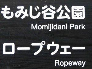 Verkeersbord in Japanse taal en Engels