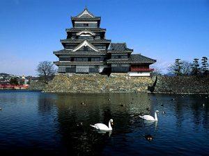 Het zwarte kraai kasteel in Matsumoto