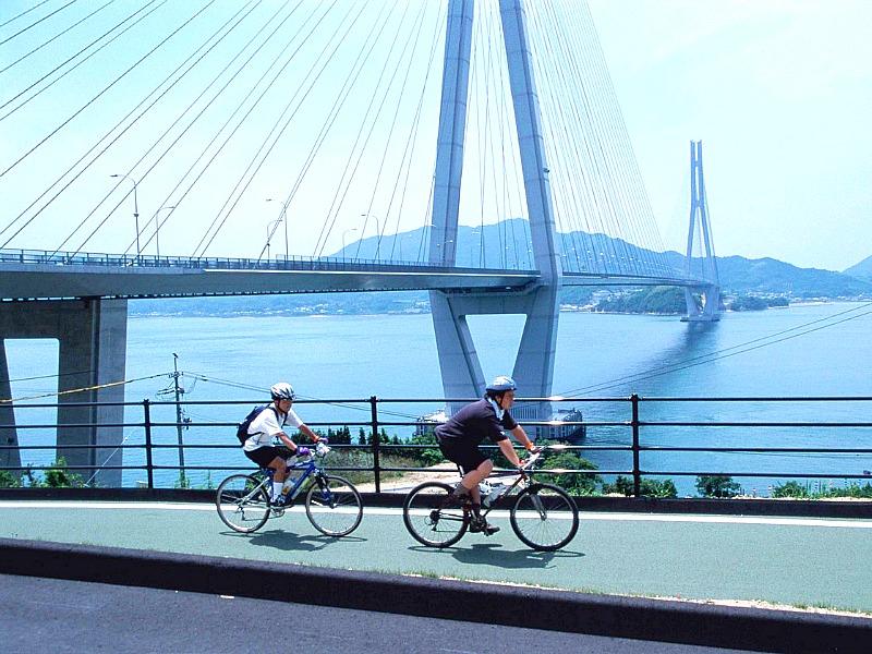 De Shimanami Kaido route per fiets