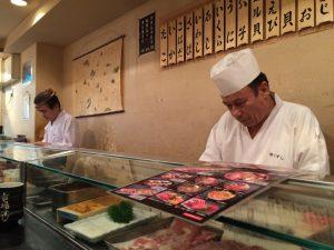 Sushi bij Tsukiji