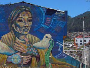Bunte Graffitis bei Kolumbien Individualreise