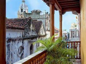 Im Herzen der Altstadt von Cartagena in Kolumbien