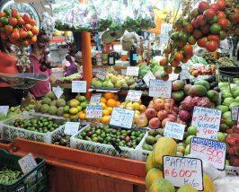 Marktstand in Bogota