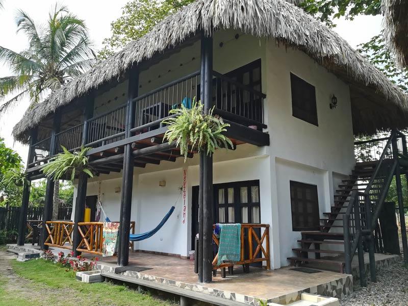 Kolumbien Reisen Palomino Unterkunft