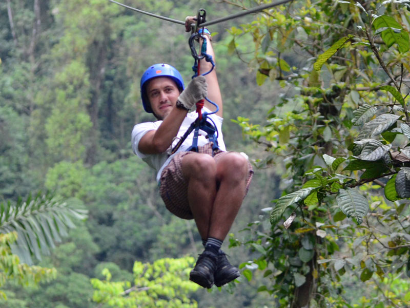 Kolumbien-San-Gil-Barichara-Ziplining
