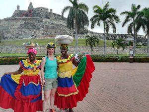Das Fort von Cartagena-Kolumbien