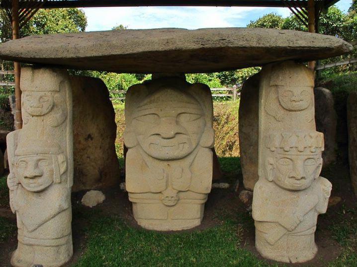 3 Wochen Kolumbien San Agustin Skulpturen