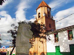 Kirche von San Agustin in Kolumbien
