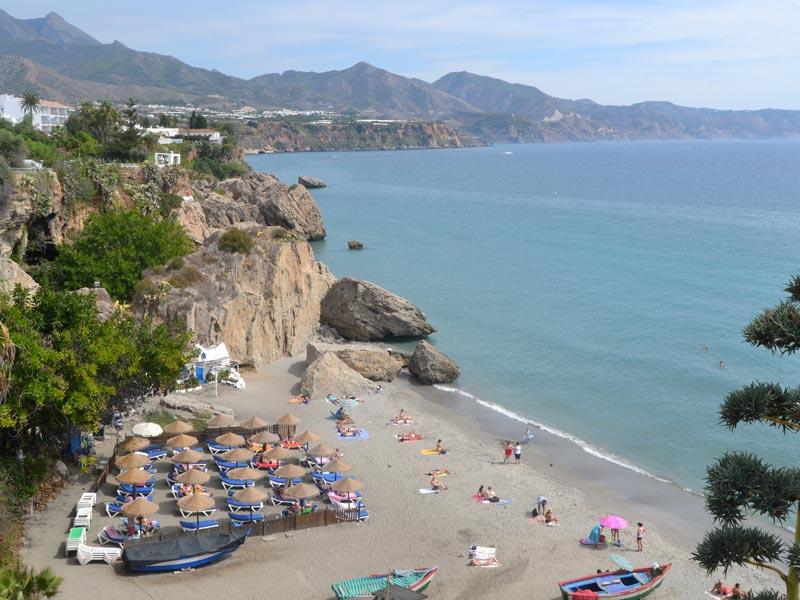 Andalusien Costa del Sol Nerja Strand