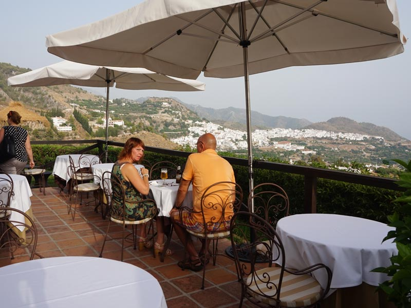 Andalusien Costa del Sol Unterkunft Terrasse