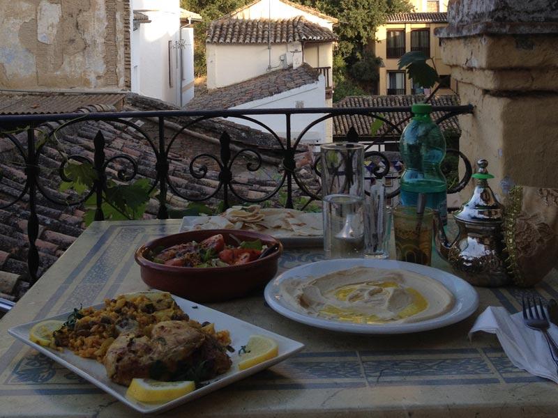 Granada Reise Ausflug Andalusien Arabisches Essen