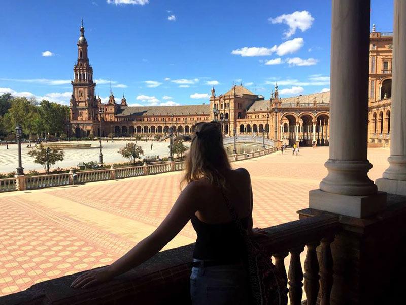 Sevilla Spanien Andalusien Plaza de Europa