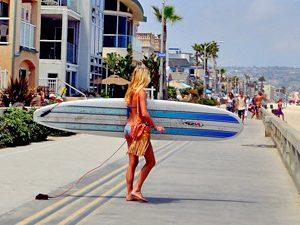 Surfboard in siëstastad
