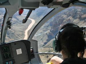 Grand Canyon vanuit een helikopter