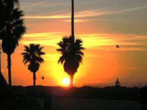 Zonsondergang - Reis Amerika