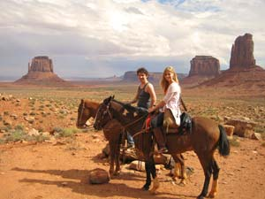 Paardrijden Monument Valley - Amerika reis