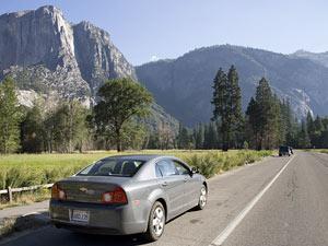 Op weg richting Yosemite NP