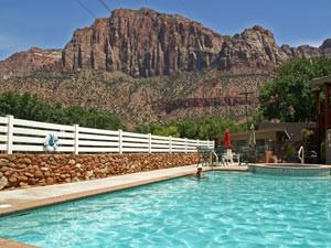 Amerika-reis - Zion zwembad