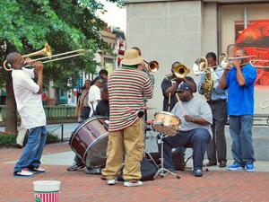 Washington verblijf - muziek op straat