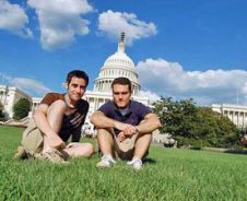 Wuiven naar het Witte Huis