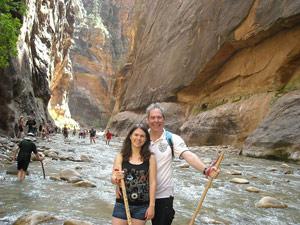 Hiken door Zion National Park