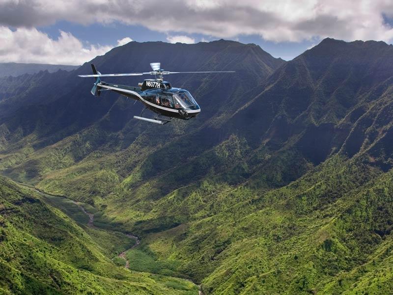 Hawaii Kauai helikoptervlucht