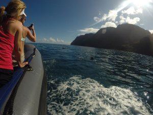 Hawaii Kauai boottocht Napali-kust