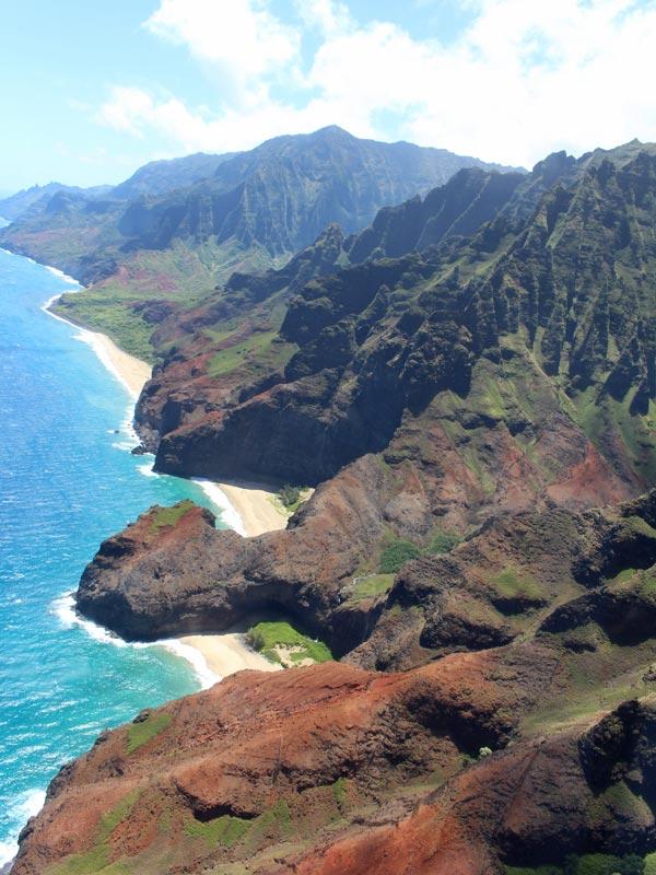 Hawaii Kauai helikoptervlucht Napali-kust