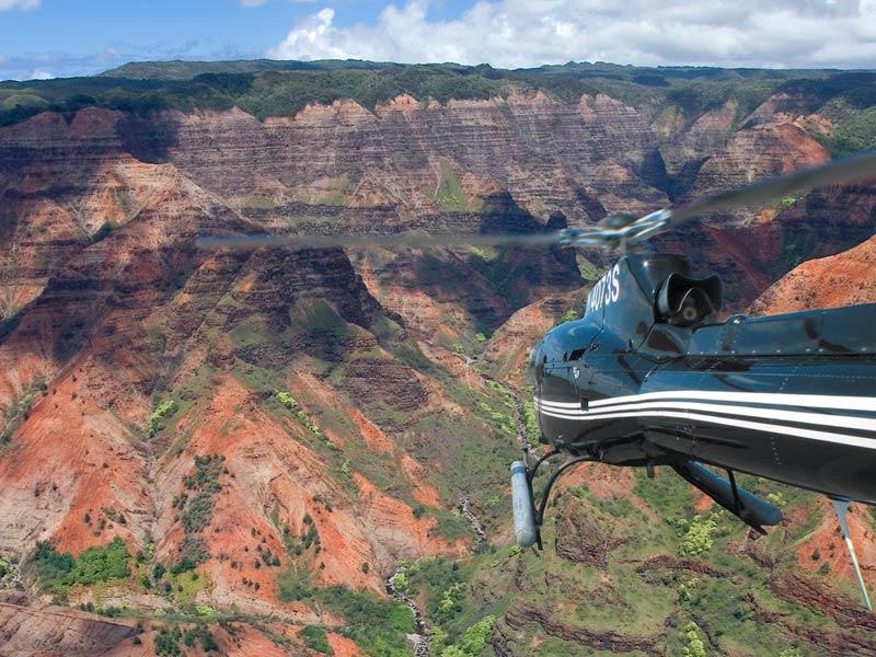 Hawaii Kauai helikoptervlucht Waimea Canyon