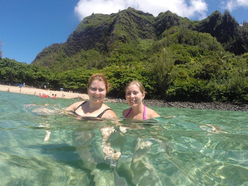 Vakantie Hawaii Kauai zwemmen