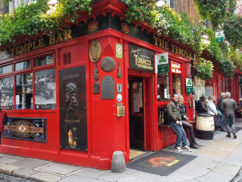 Dublin Reise Pub Sightseeing Temple Bar