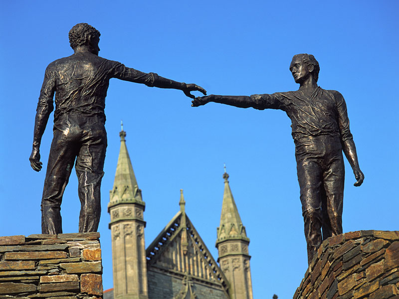 Berühmte Statue in Londonderry