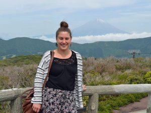 Japans traditionelle und natürliche Seite am Fuße des Mt Fuji
