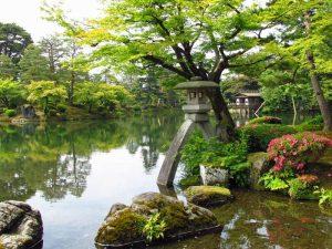 japanischer Garten Kenrokuen in Kanazawa in Japan