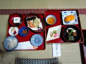 Abendessen bei der Tempelübernachtung in Koyasan