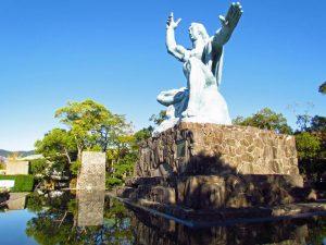 Peace Park Statue Nagasaki Kyushu Reise