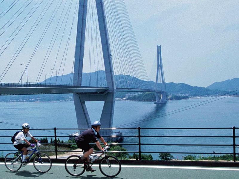 Shimanami Kaido Radfahrer Japan Rundreise