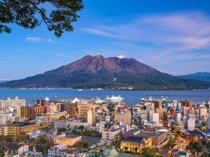 Kyushu Rundreise Kagoshima Vulkan Sakurajima