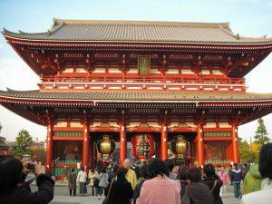 Japan Reise traditionelle und moderne Gebäude in Tokio