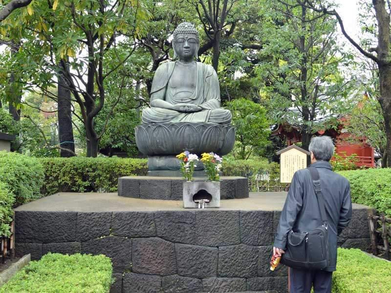 Von Tokio nach Kyoto Park Buddha